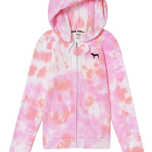 8dd90673559a1 NWT Victoria's Secret Pink VS tie dye hoodie M NWT